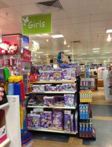 'Girls' sign in Fenwick's Brent Cross