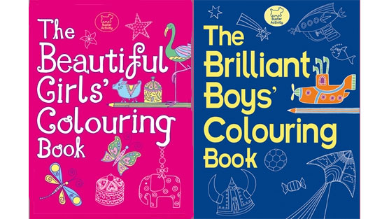 The Beautiful Girls Colouring Book, The Briliant Boys' Colouring Book