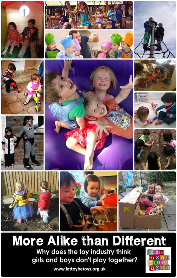 More alike than different - photos of boys and girls playing together