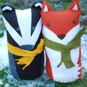 Whirligig Toys: badger and Fox
