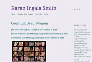 Screenshot of the Counting Dead Women website