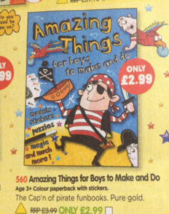 Amazing things for boys to make and do book