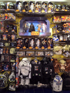 Star Wars toys and dressing up at the Disney Store