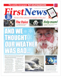 Front page of First News
