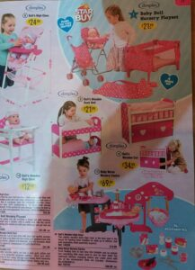 Page from Argos catalogue